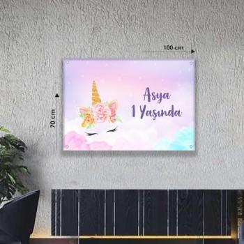 Doğum Günü Afişi (70 x 100 cm)  Avrupa Vinil Branda