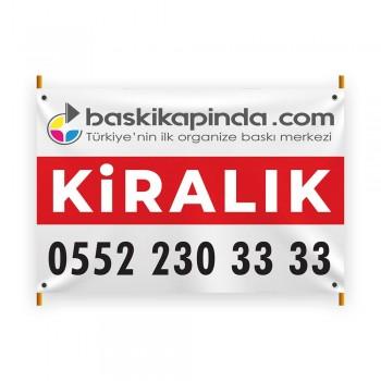 Emlak Afişi Avrupa Vinil Branda Baskı ( 100 x 150 cm )