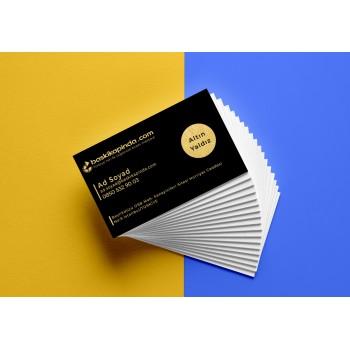 Yaldızlı Kartvizit Altın Yaldız ( Oval Kesim ) 1.000 Adet