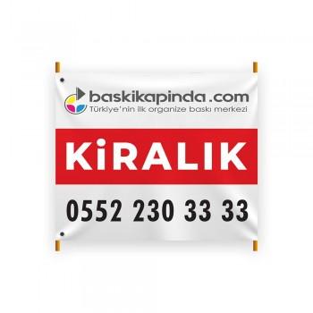 Emlak Afişi Avrupa Vinil Branda Baskı ( 100 x 120 cm )
