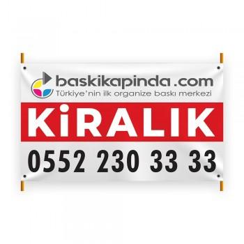 Emlak Afişi Avrupa Vinil Branda Baskı ( 70 x 120 cm )