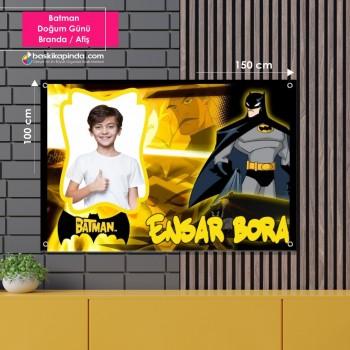 Doğum Günü Afişi ( 100 x 150 cm ) Batman Avrupa Vinil Branda