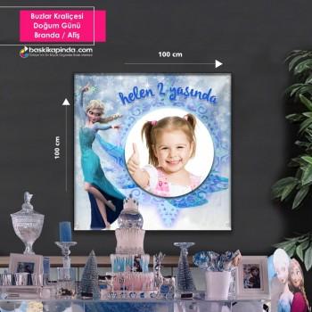 Doğum Günü Afişi ( 100 x 100 cm ) Avrupa Vinil Branda