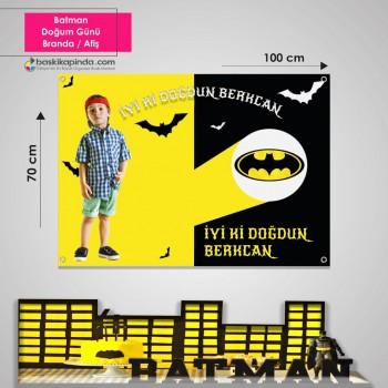 Doğum Günü Afişi ( 70 x 100 cm ) Lamine Vinil Branda