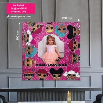 Doğum Günü Afişi ( 200 x 200 cm ) Lamine Vinil Branda
