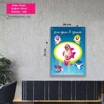 Doğum Günü Afişi (50 x 70 cm) Avrupa Vinil Branda