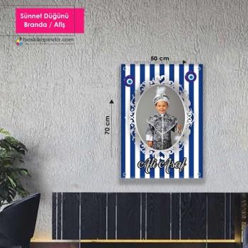 Doğum Günü Afişi ( 50 x 70 cm ) Lamine Vinil Branda