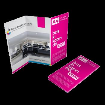 A4 El İlanı & Broşür Baskı ( 150 Gr. Tek/Çift Kırım )