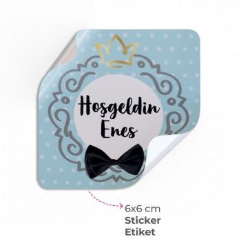Doğum Günü Sticker & Etiket ( 6 x 6 cm )