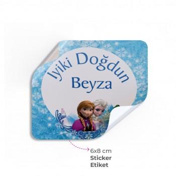 Doğum Günü Sticker& Etiket ( 6 x 8 cm )