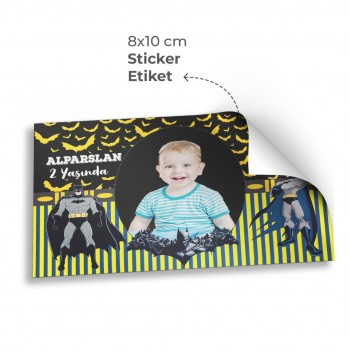 Doğum Günü Sticker& Etiket ( 8 x 10 cm ) 50 Adet