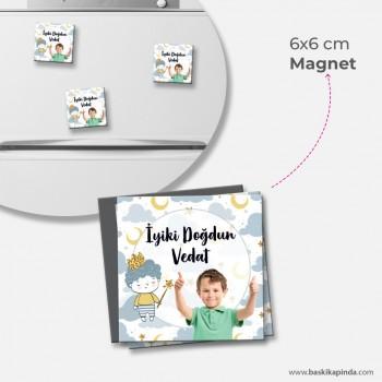 Doğum Günü Magneti ( 6×6 cm) 50 Adet