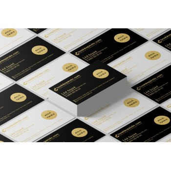 Yaldızlı Sıvama Kartvizit ( Altın Yaldız ) 1.000 Adet